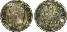France - Napoleon III - 20 Centime 1867 BB MS63 - PCGS certified