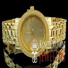 Real Diamond Ladies Womens Yellow Gold Finish KC Jojino Jojo Presidential Watch