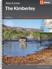 "HEMA MAPS THE KIMBERLEY - ATLAS & GUIDE - TOP 10 4WD TRACKS 6TH EDITION ""NEW!!"""