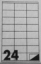 168 Etichette Adesive Bianche 70x36 mm 7 fogli A4 da 24 autoadesive con margine