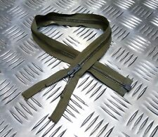 "Genuine British Military 21½"" Open End Green Metal Zip / Zipper Heavy Duty ZPM03"