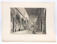 Santa Maria Toscanella 1843 G. Moore Lithograph Architecture of Italy Prayer