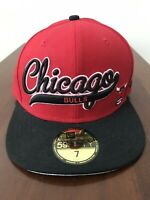 RARE Chicago Bulls Fitted New Era Hat Size 7