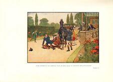 Cecil Aldin colore Cavallo Stampa presto 1900s