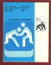Orig.Teilnehmerbroschüre   Olympische Spiele MOSKAU 1980  -  RINGEN  !!   SELTEN