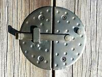 "Handmade 4.7"" Round Cabinet Door Latch Black Rustic Antique Iron Cupboard Lock"