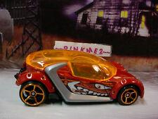 2013 MONSTER MISSION Design Ex HI I.Q.☆Burnt Orange; oh5☆LOOSE☆Hot Wheels