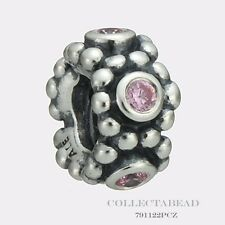 Authentic Pandora Sterling Silver Her Majesty Pink Spacer 791122PCZ