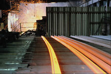 731098 Steel Mill Casting Railroad Rails Sydney Nova Scotia A4 Photo Print