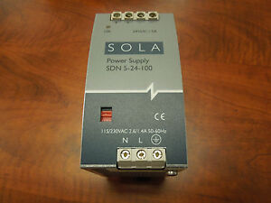 Sola Power Supply SDN 5-24-100 115/230V Input 24VDC Output Used