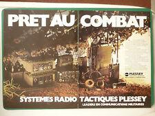 5/1982 PUB PLESSEY ELECTRONIC SYSTEMS HF RADIO TACTIQUE ECM/ECCM FRENCH AD