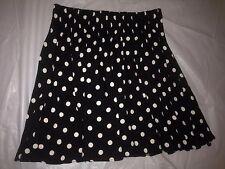 """New Victoria's Secret 'PINK' Blk & White Polka Dot Flare Skirt 15""""L Sz XSmall"""