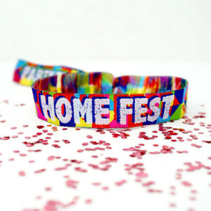 HOME FEST Festival Party Wristbands - HOMEFEST Festival Lockdown Party Favours