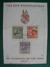 Lokalpost Dessau MiNr I-III A auf Spendenkarte mit Druckdaten - SELTEN - (L1209)