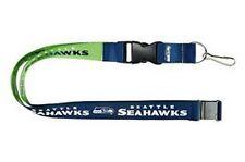 Seahawks 2 Tone Blue/Green Licensed NFL Keychain/ID Holder Detachable Lanyard