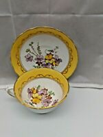Tuscan Bouquet Fine English Bone China Wide Mouth Tea Cup And Saucer