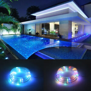 5M LED Rope Strip Tube String Fairy Solar Power Xmas Garden Party Outdoor Light