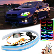 For Subaru WRX STI Impreza RGB LED Daytime Running Light Remote Headlight 2x 24""