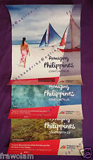 PHILIPPINE AIRLINES 75 YEARS, 21 UNUSED TRAVEL ADVERTISING POSTERS, COMPLETE SET