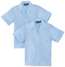 New!! Blue Girls 38ins Long Sleeve Revere Collar Blouse