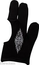 New Pro Series Black Flaming Cross Billiard Glove - BG-1S (small) Pool Glove