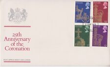 UNADDRESSED GB ROYAL MAIL FDC 1978 CORONATION 25TH ANNI STAMP SET MEDWAY PMK