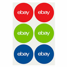 """3-Color eBay-Branded Round 100 Sticker Multi-Pack 3"""" x 3"""" Promote your business"""