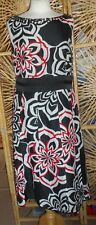 Striking Fully Lined Black, Red & White MONSOON Dress Size:14 in VGC