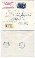 Dante - lire 130  isolato - Lettera Raccomandata - per Roma  - 03 - 11  1965