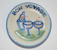 M A Hadley BON VOYAGE Champagne Toast Coaster Trinket Dish