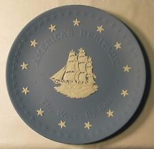 Wedgwood Blue Jasperware America's Heritage, The West By Sea Collector Plate