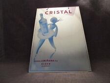 """Miroir publicitaire illustré années 60""""anisette CRISTAL""""Liminania"""
