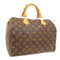 LOUIS VUITTON SPEEDY 30 HAND BAG SP0051 PURSE MONOGRAM CANVAS M41526 00845