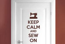 keep calm and sew on room door Wall Stickers Vinyl Art Decals