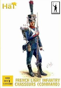 HaT 1/72 Napoleonic French Chasseurs Command # 8252