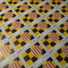 FEUILLE SHEET TIMBRE TABLEAU SEAN SCULLY N°2858 x30 1994 NEUF ** MNH