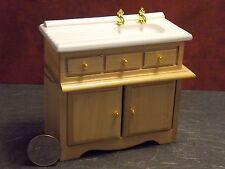 Dollhouse Miniature Oak Kitchen Sink Cabinets 1:12 inch scale E69 Dollys Gallery