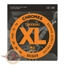 Brand New D'Addario ECG23 Chromes Flat Wound Extra Light Strings .010-.048