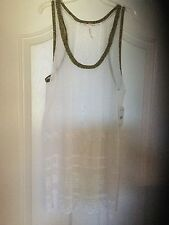 Free People Ivory Comb Lace Shirt Top Blouse Tank Size Medium M NWT $98