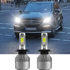 für Mercedes ML W166 -2X H7 LED AUTO Scheinwerfer BIRNEN Kit ABBLENDLICHT 6000K