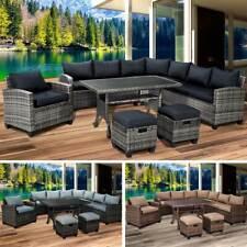 Poly Rattan Sitzgarnitur Gartenmöbel Essgruppe Lounge Sitzgruppe Garten HACIENDA
