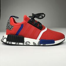 New Adidas Originals Nmd R1 J Active Red Blue White Black FV5330 Kids Size 4-6.5