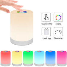 Touch Control LED Night Light Bedside Table Dimmable Colour Lamp Rechargeable