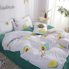 Avocado Cartoon Comfort Pink Bedding Set Duvet Cover Bed Sheet Sets Four-piece