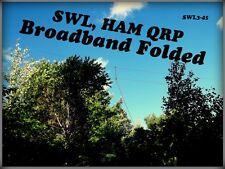 SWL, Ham, OC, Folded Dipole, Broadband,1.8-50 Mhz, 20W SSB, 45 feet, T2FD (SWL3)