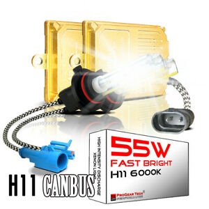 55W H8 H9 H11 H16 6000K Heavy Duty Fast Bright CANBUS AC HID Conversion Kit