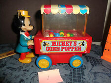 VINTAGE ILLCO TOY *MICKEY'S CORN POPPER* UC WORKS BATTERIES NOT INCLUDLED  #1