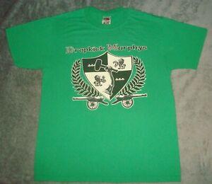 VTG 2000 DROPKICK MURPHYS T SHIRT MEDIUM GREEN CONCERT TOUR IRISH PUNK ROCK BAND