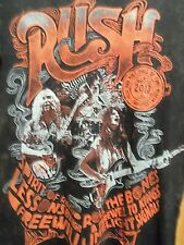 RUSH 2013 rock n roll hall of fame black graphic NWT t shirt distressed