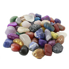 "1lb Pound Large Tumbled Assorted Gemstones 1"" to 2"" Inchs USA SELLER FREE SHIP #"